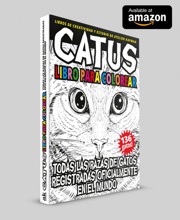 CATUS libro para colorear by Atelier Kaymak available at amazon